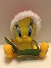 "Animated Tweety Bird Baby Looney Tunes Hallmark Christmas  Plush Toy 7"" Cute"