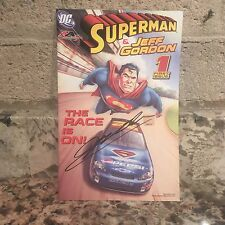 "Autographed Superman & Jeff Gordon ""The Race Is On!"" Comic Book - Signed by Jeff"