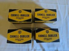 Lot of 100 Vintage NOS Wax Capacitors Cornell-Dubilier .08uf 1600V. Guitar tone