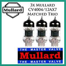 New 3x Mullard 12AX7 / CV4004 | Matched Trio / Set / Three Tubes | Free Ship
