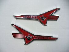 56 Ford Fairlane fender emblems Thunderbird V8