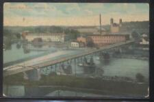 Postcard MINETTO NY  Early 1900's Local Area Town Bird's Eye Aerial view 1907