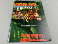 Donkey Kong Country Manual Only Super Nintendo SNES Genuine OEM Authentic
