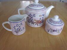 Porcelain Teapot with Creamer and Sugar - Valerie Pfeiffer Innovation 2000