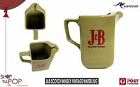 J&B Scotch Whisky Vintage 1960's Water Jug Mint WADE PM UK Mustard Man Cave