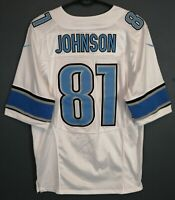 NIKE MEN'S DETROIT LIONS CALVIN JOHNSON #81 NFL FOOTBALL SHIRT JERSEY SIZE M 40