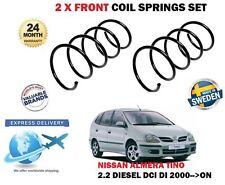 Per NISSAN ALMERA TINO 2.2 Di DCi DIESEL MPV 2000 -- > NUOVO 2x Set MOLLA elicoidale anteriore