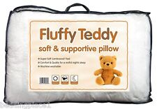 """Fluffy Teddy Pillow 19"""" x 29"""" Luxury Soft Supportive Lambswool Comfortable Feel"""