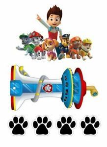 Paw Patrol Edible Cake Scene Cake Topper Birthday Party Supplies
