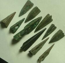 1 Rare Genuine ancient bronze Celtic Scythian Greek trilobe arrowhead intact
