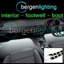 2X 1000MM WHITE INTERIOR UNDER DASH/SEAT 12V SMD5050 DRL MOOD LIGHTING STRIPS