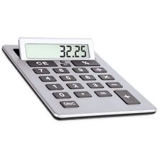 "Extra Large 8"" Silver Giant Calculator Jumbo Huge Buttons Flip Up LCD"