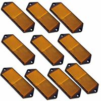 Amber Large Rectangular Side Reflector Pack of 10 Trailer Fence Gate Post TR06