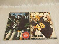 CFL Illustrated Magazine Toronto Argonauts 1972 Hamilton Tigercats 1974 Football