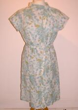 "VINTAGE FLORAL 1960'S SEMI FITTED DRESS 40"" BUST"