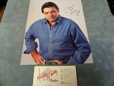 """MICKEY GILLEY SIGNED 8"""" X 10"""" PHOTO & 1995 MICKEY GILLEY SHOW TICKET **COA**"""
