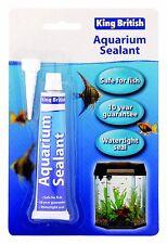 KING BRITISH 25G CLEAR SILICONE AQUARIUM SEALANT WATER TIGHT FISH TANK REPAIR
