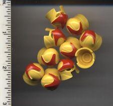LEGO x 10 Yellow Minifig, Headgear Helmet with Eye and Mouth Slits Nova Hero