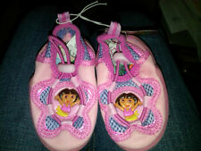 NWT INFANT GIRLS DORA THE EXPLORER PINK SWIM SHOES SIZE SMALL 1-2