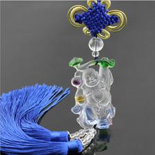 Liuli Crystal Ruyi Buddha Amulet Pendant with Cord Car Hanging Ornaments