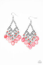 Paparazzi ~ Shore Bait Red Shell-Like Discs Earrings ~ *NEW RELEASE* ~ *WOW*