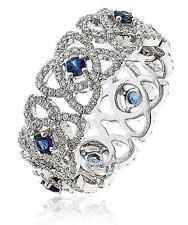 Diamond Full Eternity Wedding Ring 1.55ct Sapphire F VS in 18ct White Gold