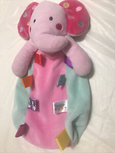 Taggies elephant that rattles security blanket Bj44a