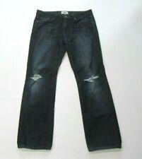 Paige Men's 34 x 30 Blue Jeans Doheny Straight Leg Dark Wash Distressed 2