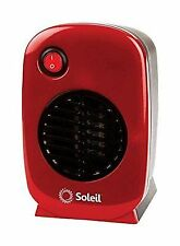 Soleil Personal Electric Portable Space Ceramic Heater 250 Watt Red MH-01R