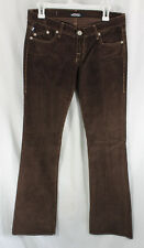Rock Republic Jagger Brown Corduroy Pink Rhinestone Jeans Womens Size 5/6, 28