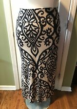 Cezanne Paisley Print Full Length Maxi Skirt Size  1X or 2X