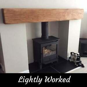 Oak Beam Fireplace / Mantle Floating Shelf Mantelpiece Lintel Air Dried Rustic