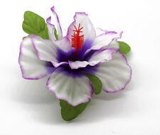 Hawaii Hair Clip Lei Party Luau Hibiscus Flower Dance Beach Photo B Purple Heart