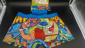 REN AND STIMPY MENS BOXER BRIEFS (NEW)