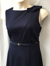 Size 12-14 NEW Corporate Dress Navy Heavyweight Stretch Twill Work Office Dinner