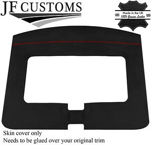 RED STITCH ROOF HEADLINING LUXE SUEDE COVER FOR TOYOTA MR2 MK1 84-90 JF1