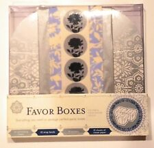 Favor Boxes Silver & Wedgewood Motif - Light & Luxurious - Party Treats Kit