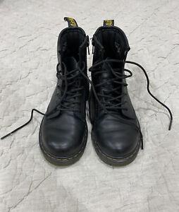 Doc Martens black boots big kids US size 1