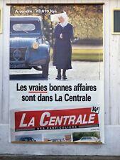 2 grandes affiches publicitaire 2CV, La Centrale des particuliers et 2CV CROSS