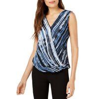 ALFANI NEW Women's Printed Surplice Blouse Shirt Top TEDO