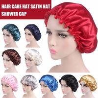 Women Satin Hair Bonnet Cap Show Hat Cap Elastic Lady Cap Hat For Bath Soft b