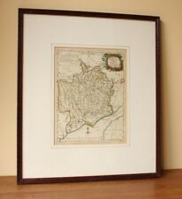 Antique Map of Monmouthshire J Ellis c1765 Old Monmouth, Newport, Chepstow, Usk