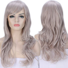 Long Ombre Cosplay Wig Curly Wavy Party Costume Women Black Pink Purple Red Wigs