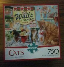 "Cats Jigsaw Puzzle ""Ice Cream Raiders"" 750 Pieces Buffalo Games 24� x 18�"