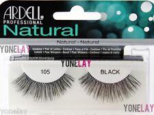ARDELL Natural 105 Black False Eyelashes Fake Eye Lashes Invisibands Fashion