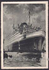 MOTONAVE VULCANIA 01 COSULICH - NAVE MARINA NAVIGAZIONE SHIP Cartolina 1934