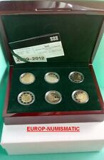 LUXEMBOURG 2009-2012   COFFRET 6 X 2 EURO  BE/PP/PROOF   SUPERBE