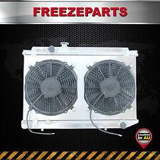 For Toyota Supra MK3 MA70 7M-GTE 3.0L MT 86-93 Aluminum Radiator+ Fan Shroud