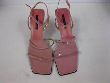"""Nine West """"Gabelle"""" Pink 3-1/2"""" High Heel Strappy Dress Sandals Size 9.5"""