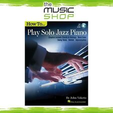 New How to Play Solo Jazz Piano Music Tuition Book with OLA